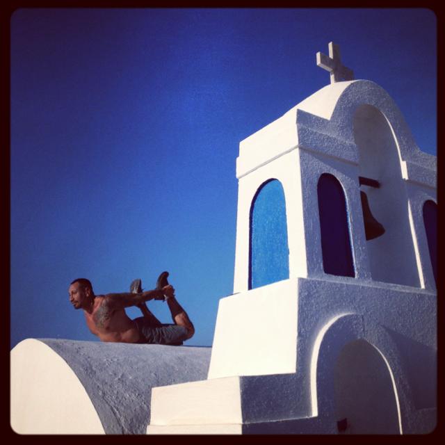 Yoga in Santorini