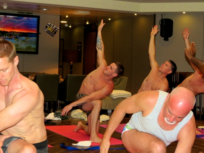 Alfonso's Yoga Class on The Source Events Cruise